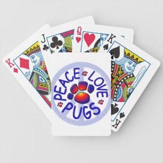 Barros amasados del amor de la paz barajas de cartas