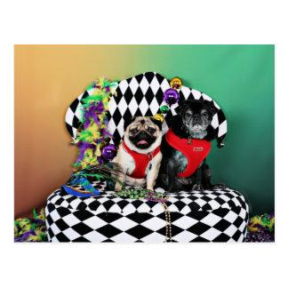 Barros amasados del carnaval 2015 de Pugsgiving - Postales