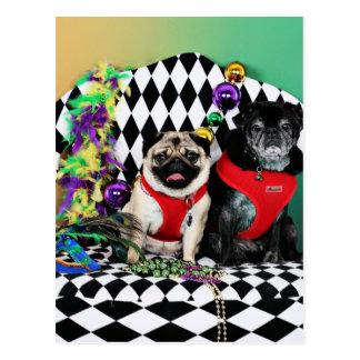 Barros amasados del carnaval 2015 de Pugsgiving - Tarjeta Postal