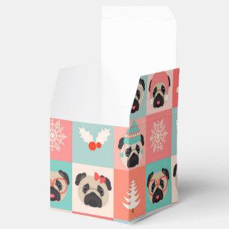 Barros amasados del día de fiesta del navidad en cajas para regalos de boda