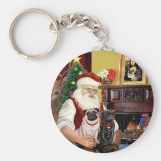 Barros amasados dos, 2F, 1blk de Santa en casa -) Llavero Redondo Tipo Pin