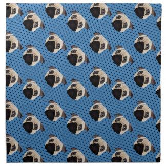 Barros amasados dulces en puntos azules servilletas de papel