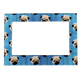 Barros amasados en la tela escocesa azul de la pen marcos magnéticos