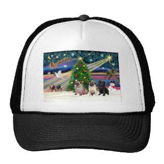Barros amasados mágicos del navidad (tres, 2 adula gorros bordados