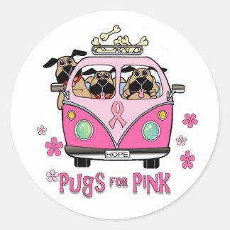 Barros amasados para los pegatinas rosados pegatina redonda