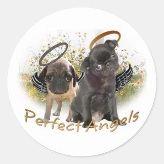 Barros amasados perfectos del ángel pegatinas redondas