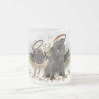 Barros amasados perfectos del ángel taza de cristal