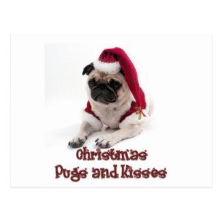 Barros amasados y besos del navidad tarjetas postales