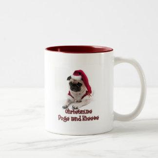 Barros amasados y besos del navidad taza de café