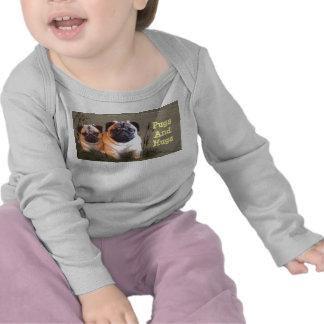 Barros amasados y camiseta larga infantil de la