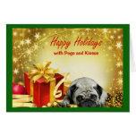 Barros amasados y regalos de la tarjeta de Navidad