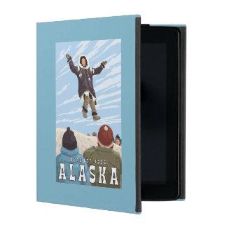 Barrow, Alaska Blanket Toss Vintage Travel iPad Folio Case