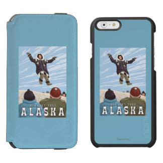 Barrow, Alaska Blanket Toss Vintage Travel iPhone 6/6s Wallet Case