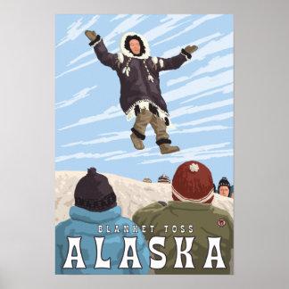 Barrow, Alaska Blanket Toss Vintage Travel Poster