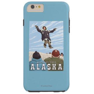 Barrow, Alaska Blanket Toss Vintage Travel Tough iPhone 6 Plus Case
