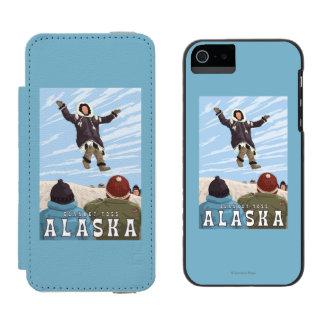 Barrow, Alaska Blanket Toss Vintage Travel Wallet Case For iPhone SE/5/5s