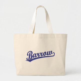 Barrow script logo in blue bag