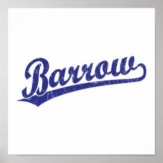 Barrow script logo in blue poster