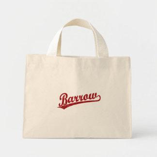 Barrow script logo in red tote bag