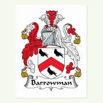 Barrowman Family Crest Postcard