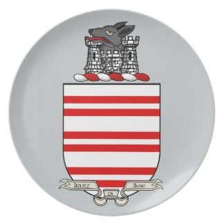 Barry Coat of Arms Dinner Plate