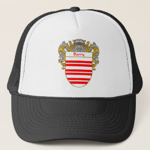 Barry Coat of Arms/Family Crest (Mantled) Trucker Hat