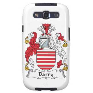 Barry Family Crest Galaxy SIII Cases