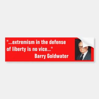 Barry_Goldwater en extremismo en defensa de la lib Etiqueta De Parachoque