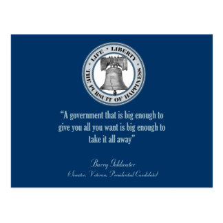 Barry Goldwater Quote (Big Government) Postcard