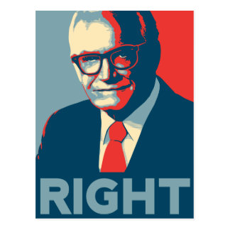 Barry Goldwater Right Postcard