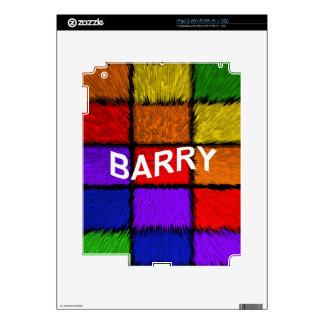 BARRY ( male names ) Decals For The iPad 2