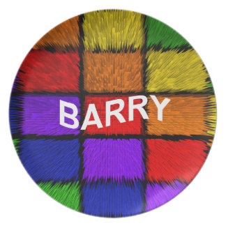 BARRY ( male names ) Dinner Plate