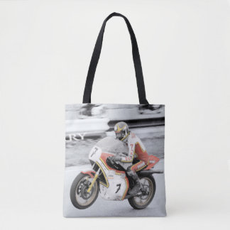 Barry Sheene 2, the hand tinted version Tote Bag