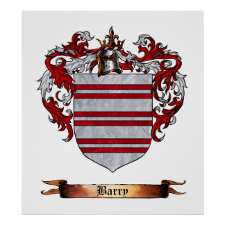 Barry Shield of Arms Poster