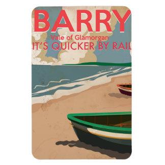 Barry, Wales Vintage locomotive Travel Poster Rectangular Photo Magnet