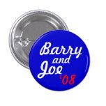 Barry y Joe '08 - modificado para requisitos parti Pin Redondo De 1 Pulgada