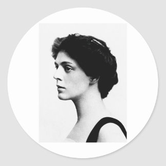 Barrymore ~ Ethel American Actress Classic Round Sticker