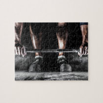 Bars and Chalk - Weightlifting Print Jigsaw Puzzle