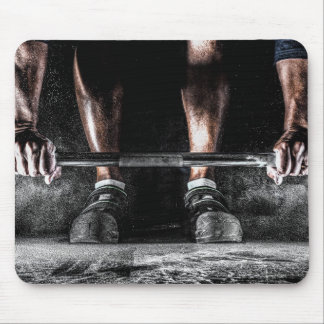 Bars and Chalk - Weightlifting Print Mouse Pad