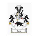 Bars Family Crest Stretched Canvas Prints