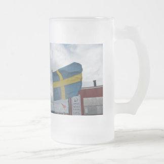 Barsabackshamn, Sweden Frosted Beer Mug