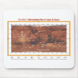 Barsoomian Map of Lands and Races Mousepad