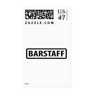 barstaff waiter icon postage