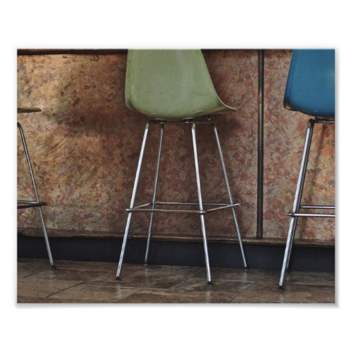 Barstools and Copper Photo Print