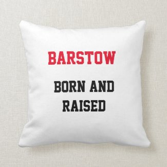 Barstow Born and Raised Throw Pillow