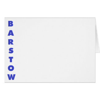 Barstow Greeting Card
