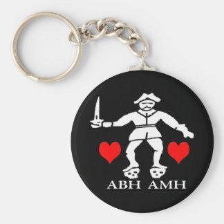 Bart Roberts #1 -Hearts Basic Round Button Keychain