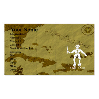 Bart Roberts-1 Map #2 Double-Sided Standard Business Cards (Pack Of 100)