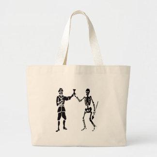 Bart Roberts #2-Black Large Tote Bag