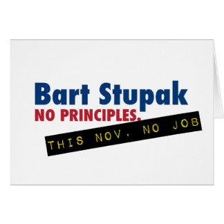 Bart Stupak - No Principles, No Job. Card
